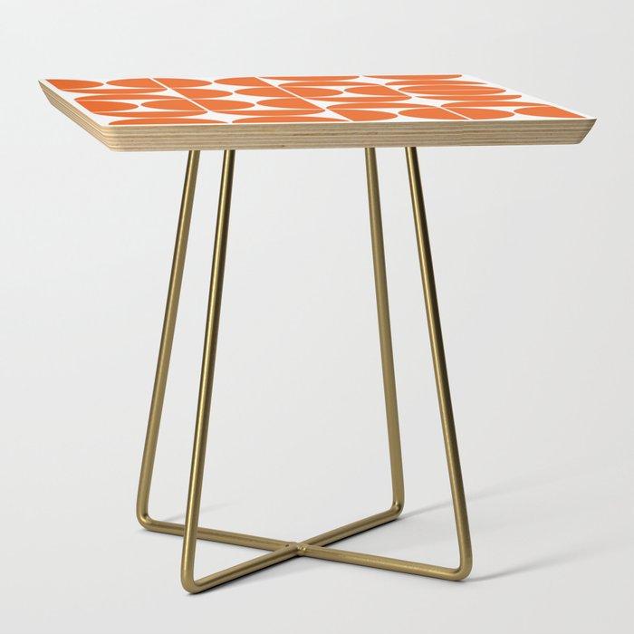 Mid Century Modern Geometric 04 Orange Side Table