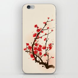 Oriental plum blossom in spring 012 iPhone Skin