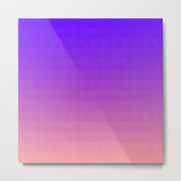 Pink and Purple Ombre Metal Print