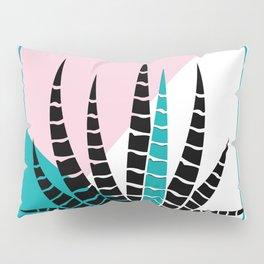 Modern geometric background stylized aloe-vera illustration Pillow Sham