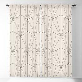 Gisela Geometric Line Pattern - Black & White Blackout Curtain
