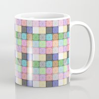 stained glass Mugs featuring Stained Glass by Ana Guillén Fernández