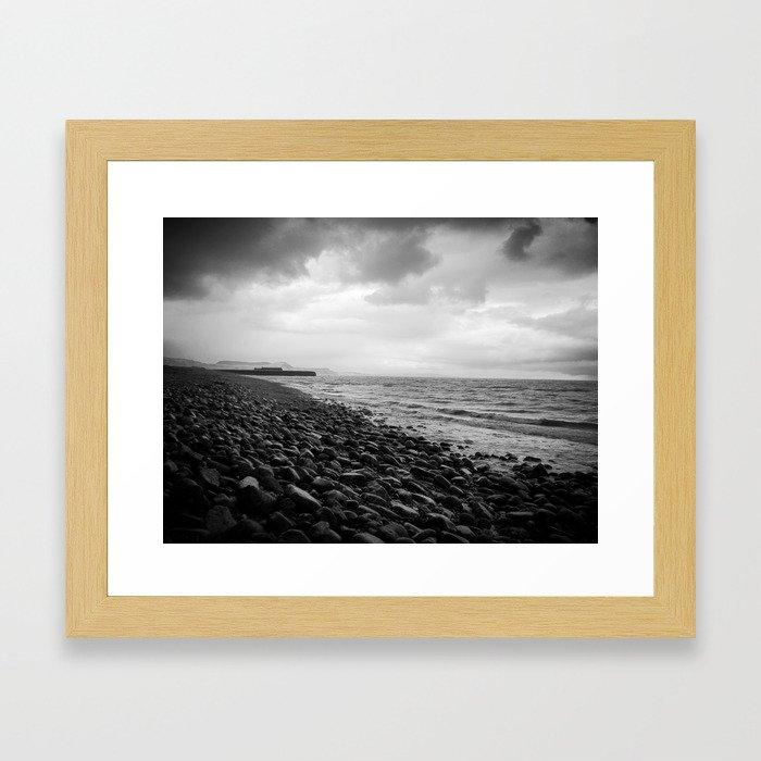 storm sea Framed Art Print
