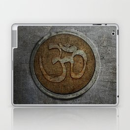 The sound of the Universe. Gold Ohm Sign On Stone Laptop & iPad Skin