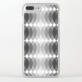 GRAY I LEAVES Clear iPhone Case