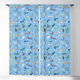 Airplanes In the Sky Plane Pattern Blackout Curtain