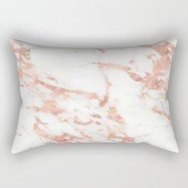 Marble - Metallic Rose Gold Marble Pattern Rectangular Pillow