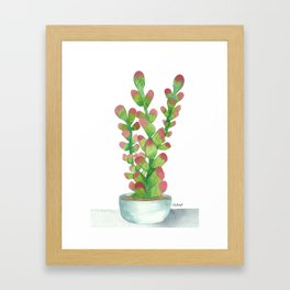 PINKY JELLY BEAN Framed Art Print