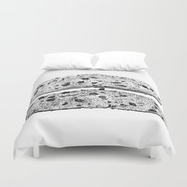 2 pieces of toast Duvet Cover