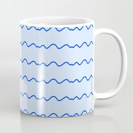 Mariniere and wave 23 blue Coffee Mug