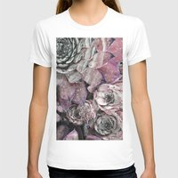 succulent T-shirts featuring succulent pink by ARTbyJWP