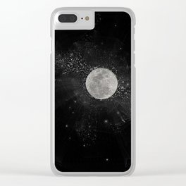 Moon dust Clear iPhone Case