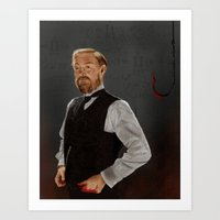 moriarty Art Prints featuring Moriarty lives by San Fernandez