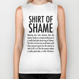 of Shame (on light) Biker Tank