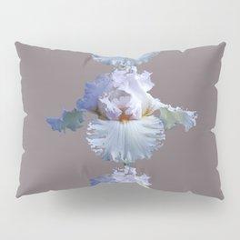 SNOW WHITE SPRING IRIS  GREY MONTAGE Pillow Sham