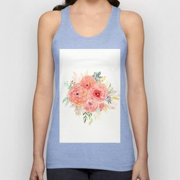 Pink Flower Bouquet Unisex Tank Top