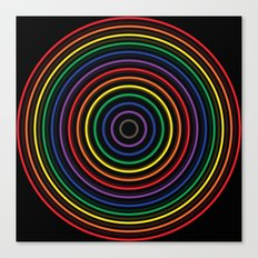 Colorful circle Canvas Print
