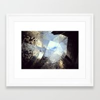 mirror Framed Art Prints featuring mirror by Nat Alonso