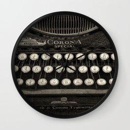 Old Typewriter Keyboard Wall Clock