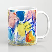 polka dot Mugs featuring Polka Dot by Liz Haywood