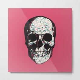 R-Skull Metal Print