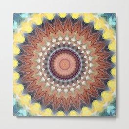 New Color Pyramidal Mandala 16 Metal Print
