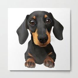Cute Sausage Dog Metal Print