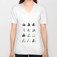 triangles V-neck T-shirts featuring triangles by LEEMO