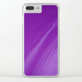 Blurred Violet Wave Trajectory Clear iPhone Case