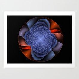 Colorful fractal flower. Art Print