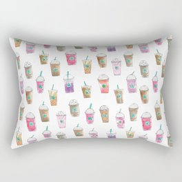 Coffee Cup Party in Marshmallow Rectangular Pillow