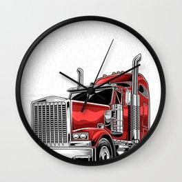 Mens Best Truckin Stepdad Ever Big Rig Trucker Father's Day Wall Clock