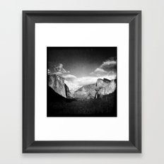 The View From Tunnel View Framed Art Print