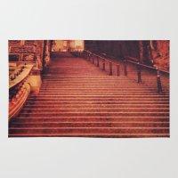 edinburgh Area & Throw Rugs featuring Edinburgh Stairs by Molly Smiles