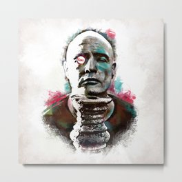 Marlon Brando under brushes effects Metal Print