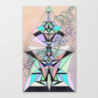 aztec Canvas Prints featuring Aztec by QUEQZZ