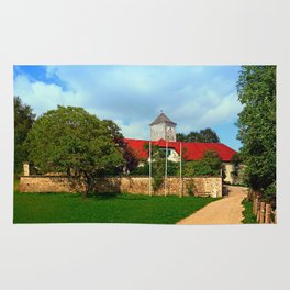 The pathway to Reichenau castle | architectural photography Rug