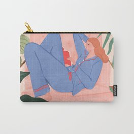 Reading with The Plants Carry-All Pouch