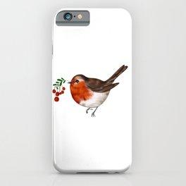 Robin bird art iPhone Case