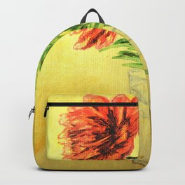 flower in a glass . illustration  ( https://society6.com/totalflora/collection ) Backpack