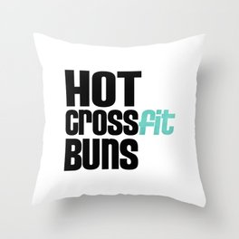 Hot Crossfit Buns Throw Pillow
