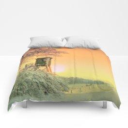 Winter romantic Comforters
