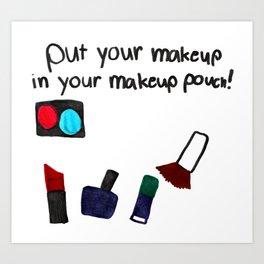 Little Artist Big Dreams: makeup pouch Art Print