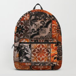 Antique Floor Tiles Vintage Architecture Photography Backpack