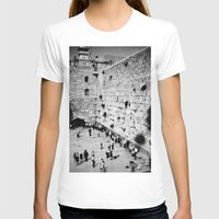 western T-shirts featuring Western Wall by Emily Lewin