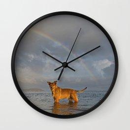 Lucky Dog Wall Clock