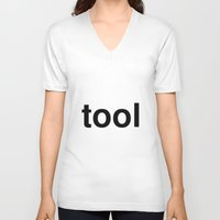 tool V-neck T-shirts featuring tool by linguistic94