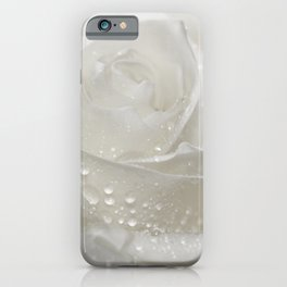 Rose white 0115 iPhone Case