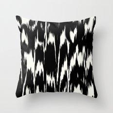 Ikat: Black Ivory Throw Pillow