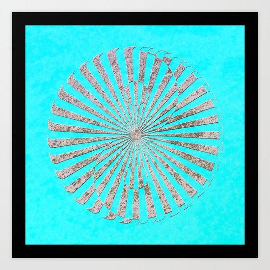 yin yang stone red Art Print